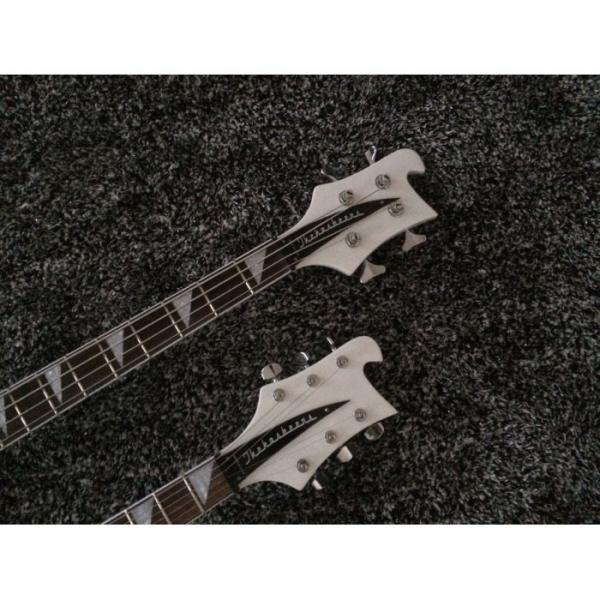 Custom Shop 4080 Double Neck Geddy Lee White 4 String Bass 6/12 String Guitar #3 image