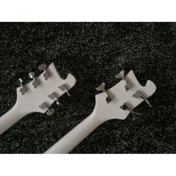 Custom Shop 4080 Double Neck Geddy Lee White 4 String Bass 6/12 String Guitar #4 image