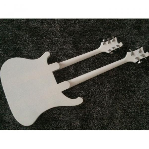 Custom Shop 4080 Double Neck Geddy Lee White 4 String Bass 6/12 String Guitar #5 image