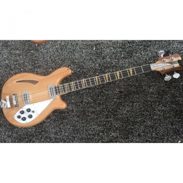 Custom Shop 4005 Rickenbacker Natural Semi Hollow Bass Checkerboard Bindings #5 image