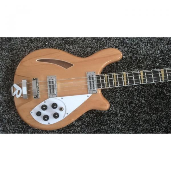 Custom Shop 4005 Rickenbacker Natural Semi Hollow Bass Checkerboard Bindings #4 image