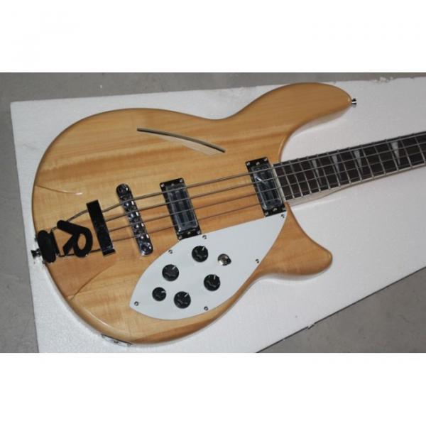 Custom Shop 4005 Rickenbacker Left Handed Naturalglo Semi Hollow Bass #1 image