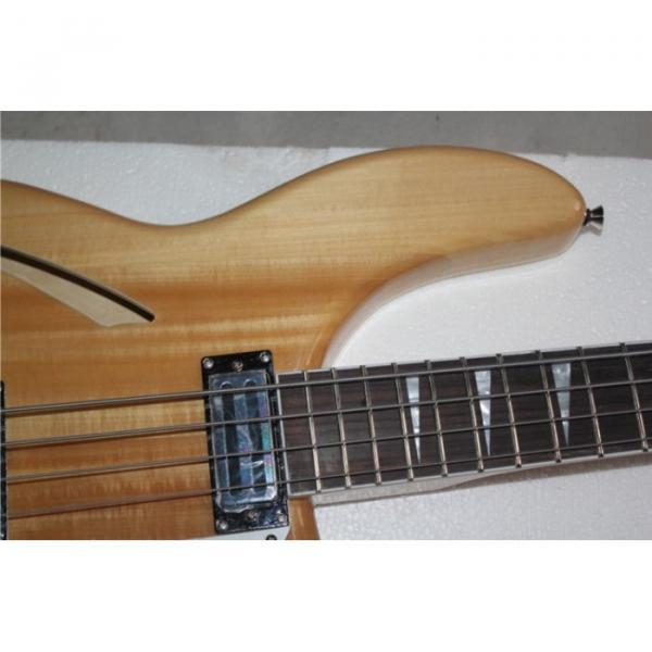 Custom Shop 4005 Rickenbacker Left Handed Naturalglo Semi Hollow Bass #2 image