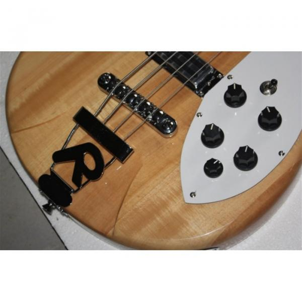 Custom Shop 4005 Rickenbacker Left Handed Naturalglo Semi Hollow Bass #3 image