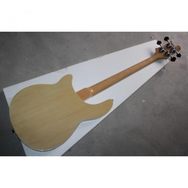 Custom Shop 4005 Rickenbacker Left Handed Naturalglo Semi Hollow Bass #4 image