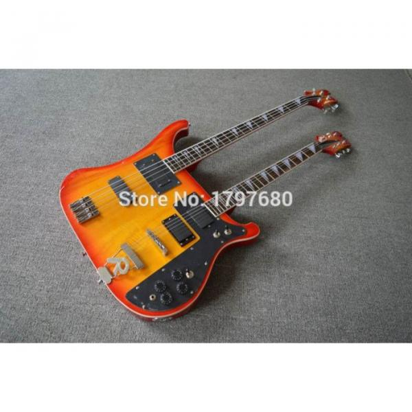 Custom Shop 4003 Double Neck Fireglo 4 String Bass 6 String Guitar #1 image