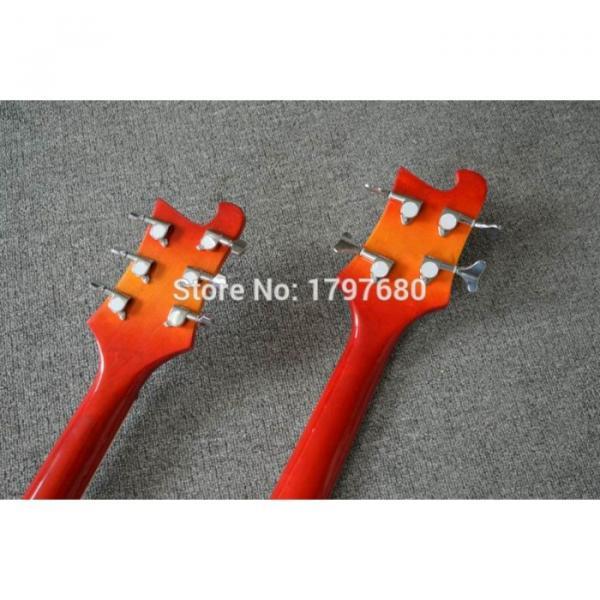 Custom Shop 4003 Double Neck Fireglo 4 String Bass 6 String Guitar #2 image