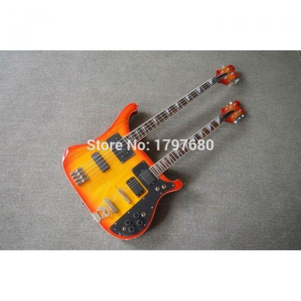 Custom Shop 4003 Double Neck Fireglo 4 String Bass 6 String Guitar #3 image