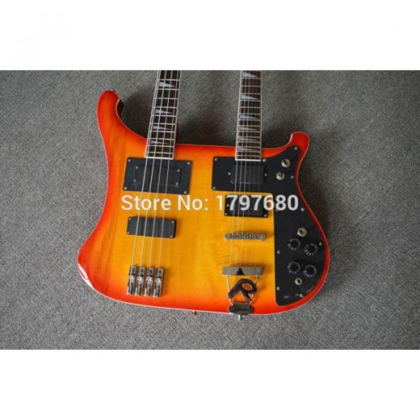 Custom Shop 4003 Double Neck Fireglo 4 String Bass 6 String Guitar #4 image