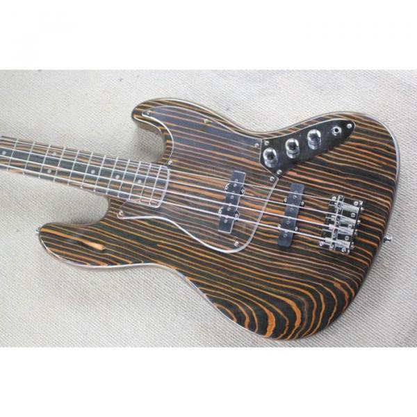 Custom Shop 4 String Orford Cedar Jazz Bass Zebra Body and Neck #1 image