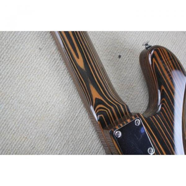 Custom Shop 4 String Orford Cedar Jazz Bass Zebra Body and Neck #3 image