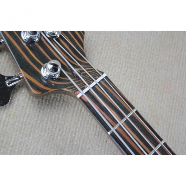 Custom Shop 4 String Orford Cedar Jazz Bass Zebra Body and Neck #4 image