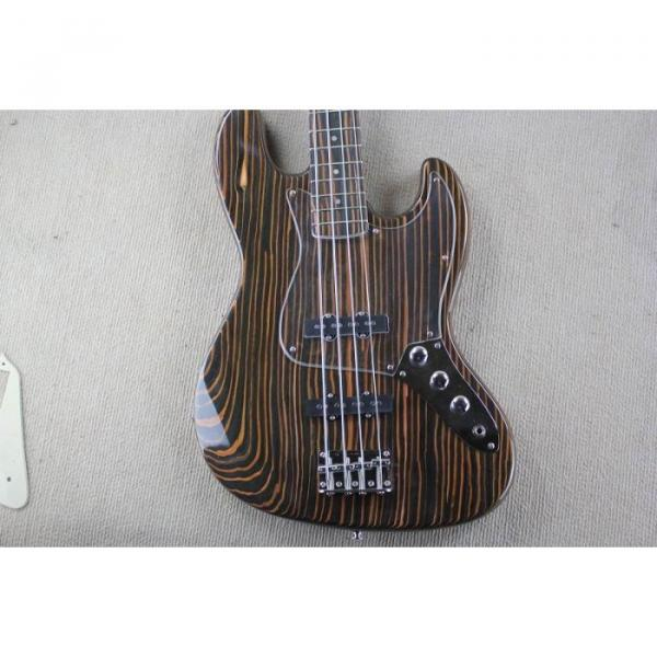 Custom Shop 4 String Orford Cedar Jazz Bass Zebra Body and Neck #5 image