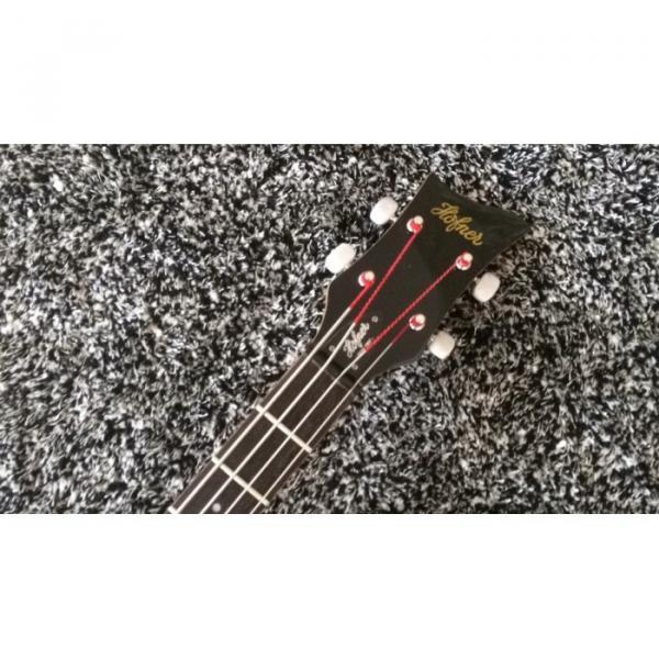 Custom Hofner Jubilee Union Jack Paul Mcartney Violin 4 String Bass Guitar #4 image