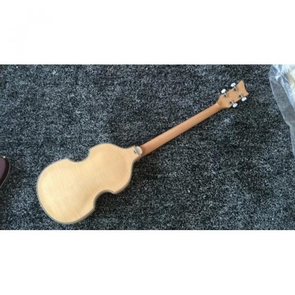 Custom Hofner Jubilee Union Jack Paul Mcartney Violin 4 String Bass Guitar #5 image