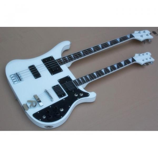 Custom Built 4080 Double Neck Geddy Lee White 4 String Bass 6/12 String Guitar #1 image