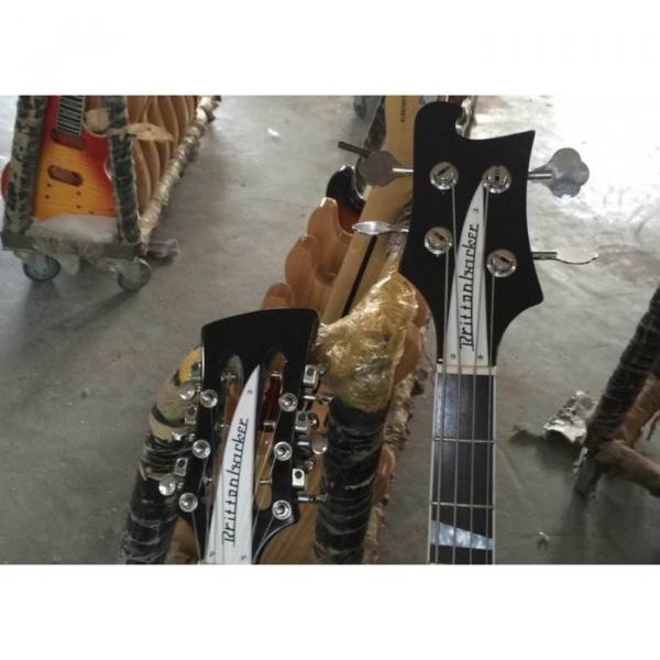 Custom 4003 Double Neck Mike Rutherford of Genesis 4 String Bass 6/12 String Option Guitar #4 image