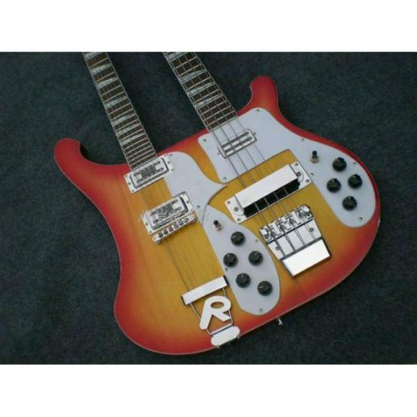 Custom 4003 Double Neck Fireglo 4 String Bass 12 String Guitar #1 image