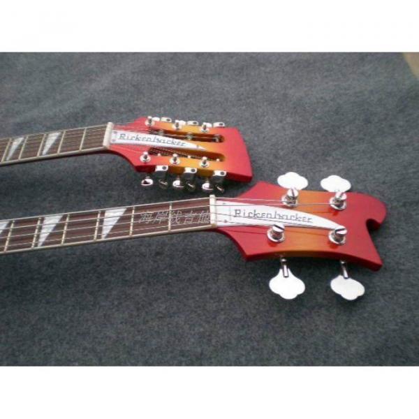 Custom 4003 Double Neck Fireglo 4 String Bass 12 String Guitar #2 image