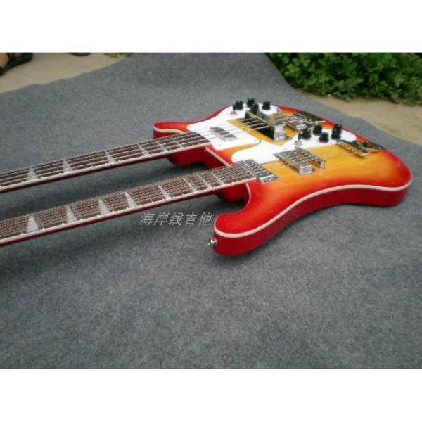 Custom 4003 Double Neck Fireglo 4 String Bass 12 String Guitar #5 image