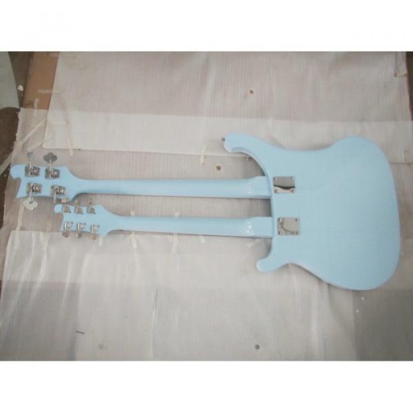 Custom 4003 Double Neck Rickenbacker Light Blue 4 String Bass 6 String Guitar Bolt On #4 image
