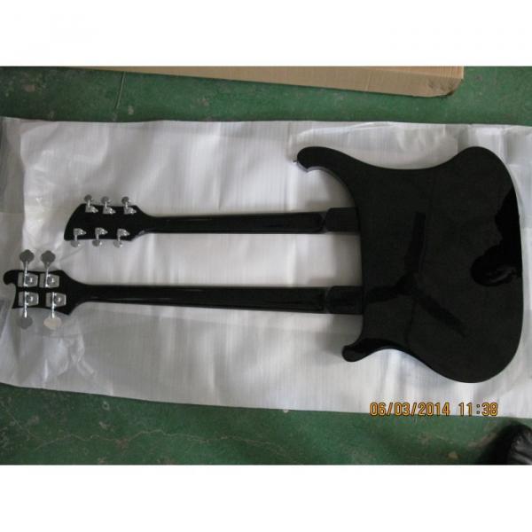 Custom 4003 Double Neck Rickenbacker Black 4 String Bass 6 String Guitar #2 image