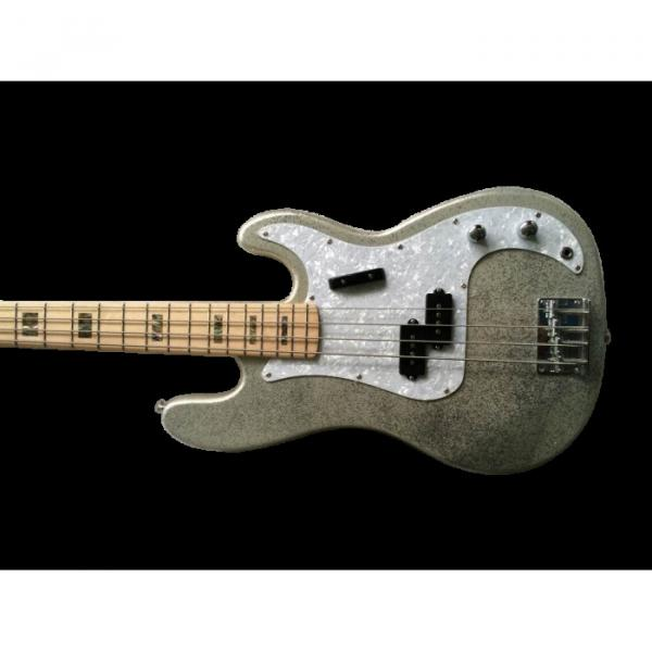 Custom Shop Sparkle Silver Jazz Bass Silver Dust Metallic P Bass Guitar #1 image