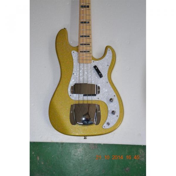 Custom Shop Sparkle Gold Jazz Silver Dust Metallic Bass Guitar #1 image