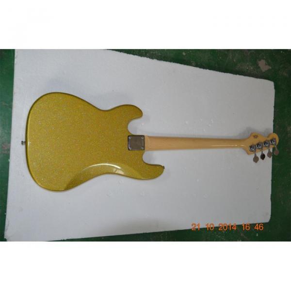 Custom Shop Sparkle Gold Jazz Silver Dust Metallic Bass Guitar #4 image