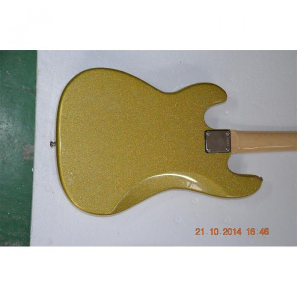Custom Shop Sparkle Gold Jazz Silver Dust Metallic Bass Guitar #5 image