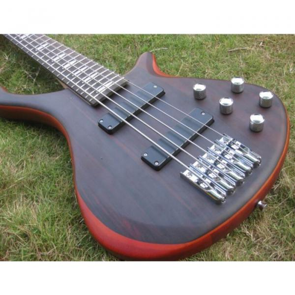 Custom Shop Burgundy Edge Sapelle with Rosewood Top 5 String Electric Bass Wenge #1 image
