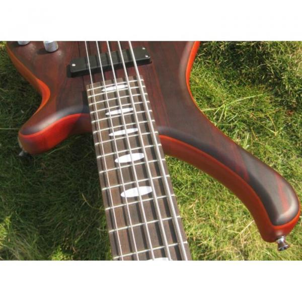 Custom Shop Burgundy Edge Sapelle with Rosewood Top 5 String Electric Bass Wenge #5 image