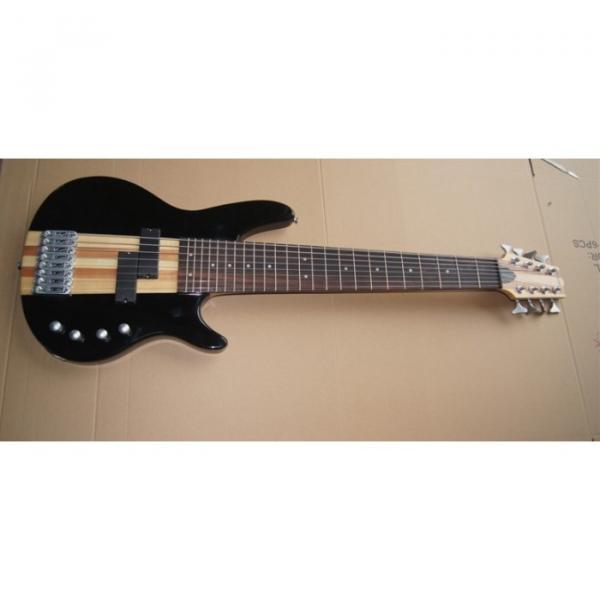 Custom Shop 8 String Black 5 Pcs Wood Electric Ken Smith Bass #1 image