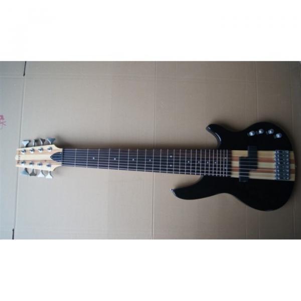 Custom Shop 8 String Black 5 Pcs Wood Electric Ken Smith Bass #2 image
