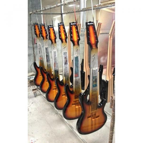 Custom Shop 8 String Black 5 Pcs Wood Electric Ken Smith Bass #5 image