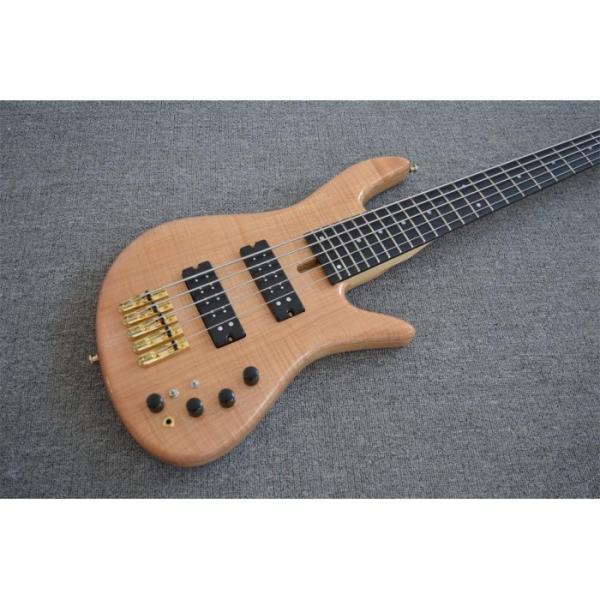 Custom Shop 5 String Natural Finish Bass #1 image