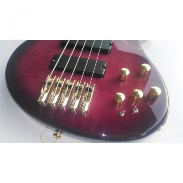 Custom Shop 5 String Bass Purple Gold Hardware Maple Fretboard Strinberg #2 image