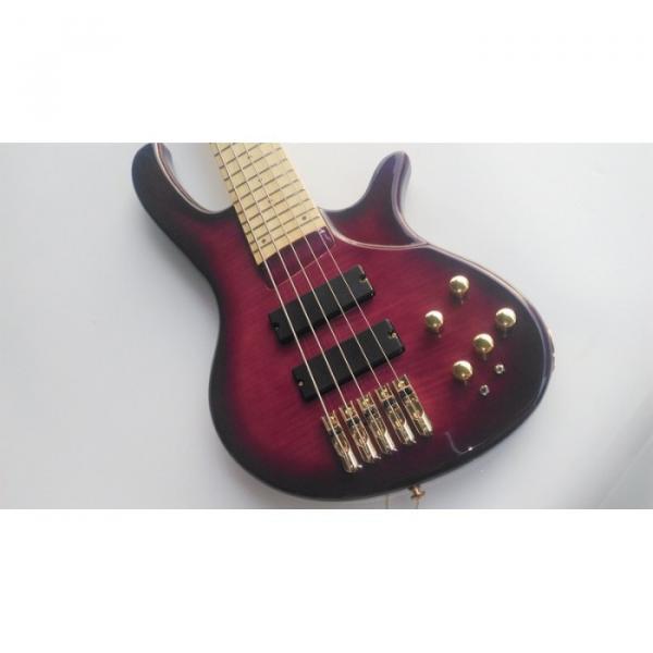 Custom Shop 5 String Bass Purple Gold Hardware Maple Fretboard Strinberg #3 image