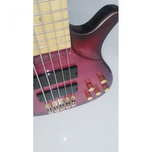 Custom Shop 5 String Bass Purple Gold Hardware Maple Fretboard Strinberg #5 image