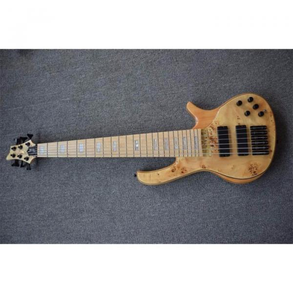 Custom Butterfly Fodera 6 Strings Bass Natural Finish #1 image