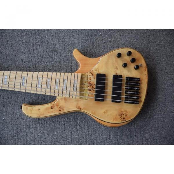 Custom Butterfly Fodera 6 Strings Bass Natural Finish #3 image