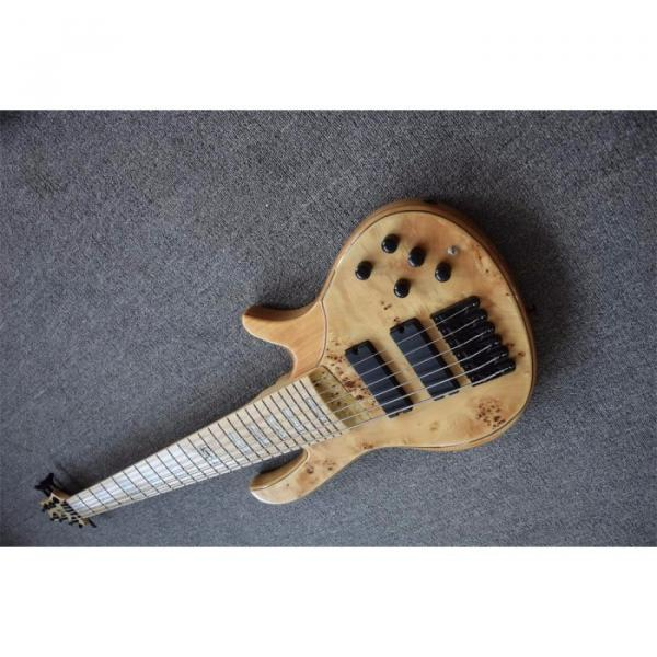 Custom Butterfly Fodera 6 Strings Bass Natural Finish #4 image