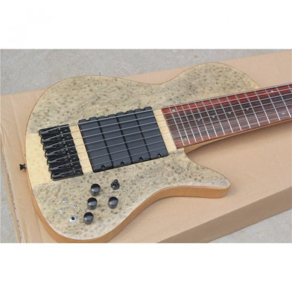 Custom Ash Wood Neck Through Body Birds Eye 7 String Bass #1 image