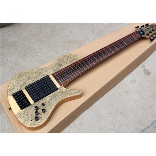 Custom Ash Wood Neck Through Body Birds Eye 7 String Bass #3 image
