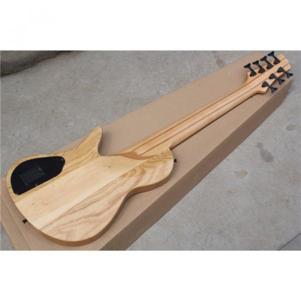 Custom Ash Wood Neck Through Body Birds Eye 7 String Bass #4 image