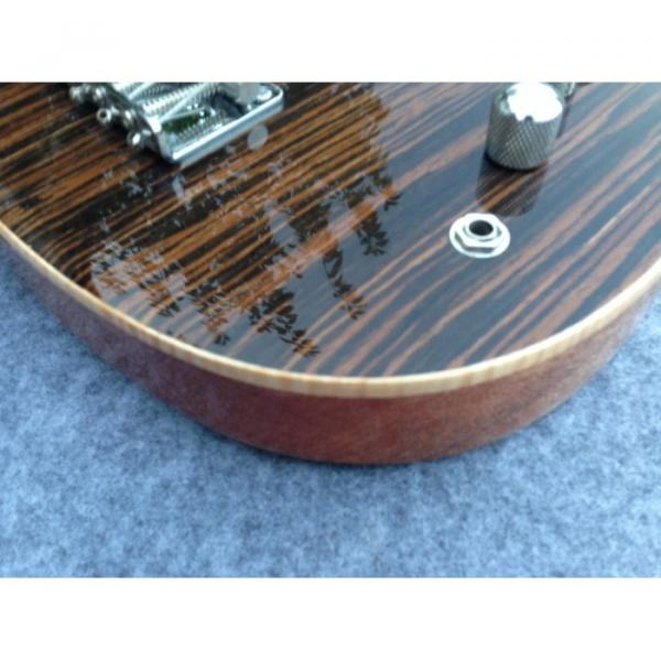 Custom American Vintage 5 String Bass Zebra Finish F Hole #2 image