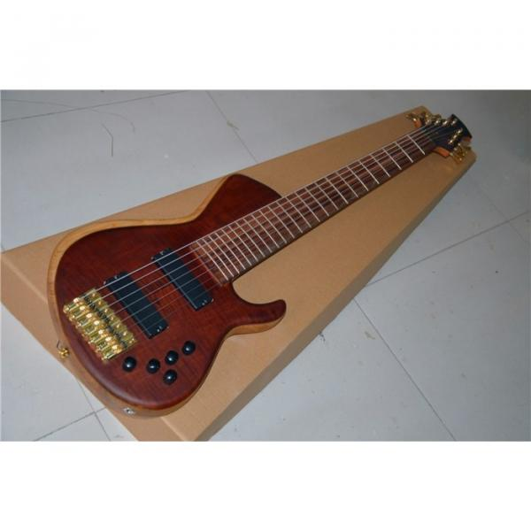 Custom American Standard 7 String Rust Quilted Bass #2 image
