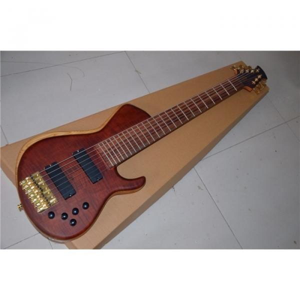 Custom American Standard 7 String Rust Quilted Bass #5 image