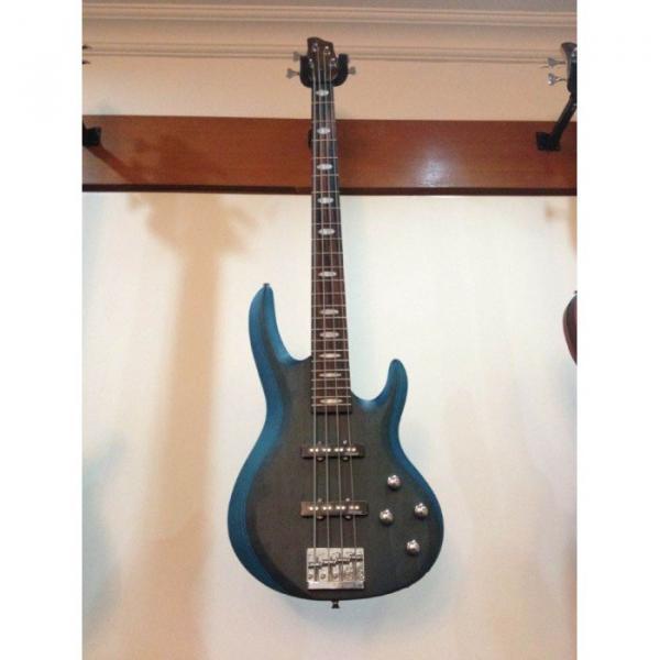 Custom Active Pickup 4 String Bass Guitar Blue Finish Wilkinson Pickups #3 image