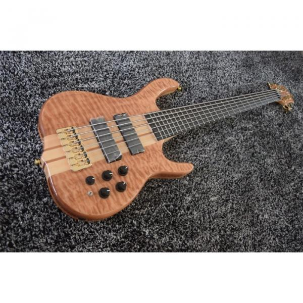 Custom 6 String Quilted Ken Smith Bass Red LED Inlay and Side Markers #1 image
